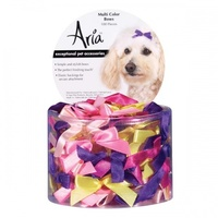 ARIA Multi Colour Bow Canister 3/8in 100 PC