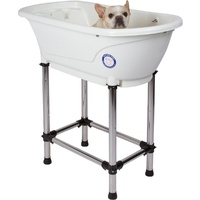 Small Portable Bath Tub For Dogs and Cats (White)