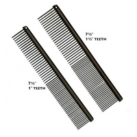 "Anti-Static Etched Back Finishing Comb 7.5"", Fine / Coarse, 1"" Teeth"