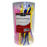 GroomTech Dual-End Toothbrushes 50/Tub