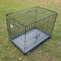 "BENGO 24"" Collapsible Metal Pet Dog Cage Crate - Small"