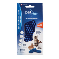Pet+Me Grooming Brush Blue - Soft Silicone, Short Hair