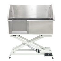 Shernbao Stainless Steel Electric Lifting Bath Tub (LEFT Sliding Door)