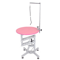 SHERNBAO Round Air Lift Table (Pink)
