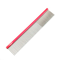 SHERNBAO Professional Pet Comb 18.7cm [Red]