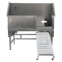 Aeolus Stainless Steel Bathing Tub with Swing in/out Ramp (Sliding Door)