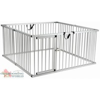 AEOLUS Aluminium Exercise Pen / Dog Run 120x120x90H