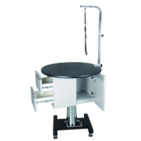 AEOLUS Round Hydraulic Table with Cabinet