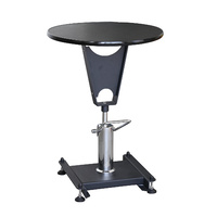 Aeolus Cost Effective Round Hydraulic Table with Single Grooming Arm