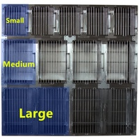 Round Cornered 509 Stainless Steel Modular Cage - Medium Only