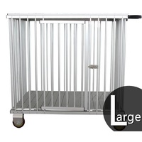 Aeolus 1-Berth Aluminium Show Trolley with 4inches nylon wheels - Large (Black)