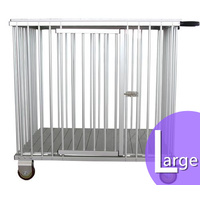 Aeolus 1-Berth Aluminium Show Trolley with 4inches nylon wheels - Large (Purple)