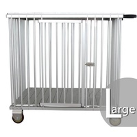 Aeolus 1-Berth Aluminium Show Trolley with 4inches nylon wheels - Large (Silver)