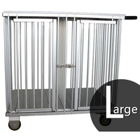 Aeolus 2-Berth Aluminium Show Trolley with 4inches nylon wheels - Large (BLACK)
