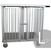 Aeolus 2-Berth Aluminium Show Trolley with 4inches nylon wheels - Large (Silver)