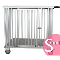 AEOLUS 1-Berth Aluminium Show Trolley - Small (Pink)