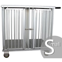 Aeolus 2-Berth Aluminium Show Trolley with 4inches nylon wheels - Small (Silver)