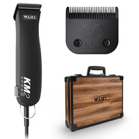 WAHL KM2 Clipper with Wooden Tool Brief Case