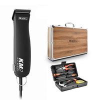 Wahl KM2 Clipper with Wooden Briefcase & Tool Kit