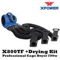 XPower X800TF Cage Dryer 700w with Multi Drying Kit