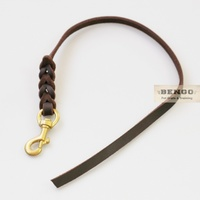 BENGO Leather Short Dog Training Leash 60cm