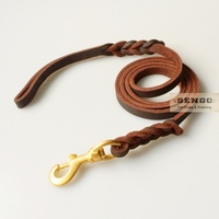 BENGO Handcrafted Leather Dog Leash 3m