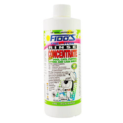 Fido's Rinse Concentrate for Flea & Tick Control 500ml